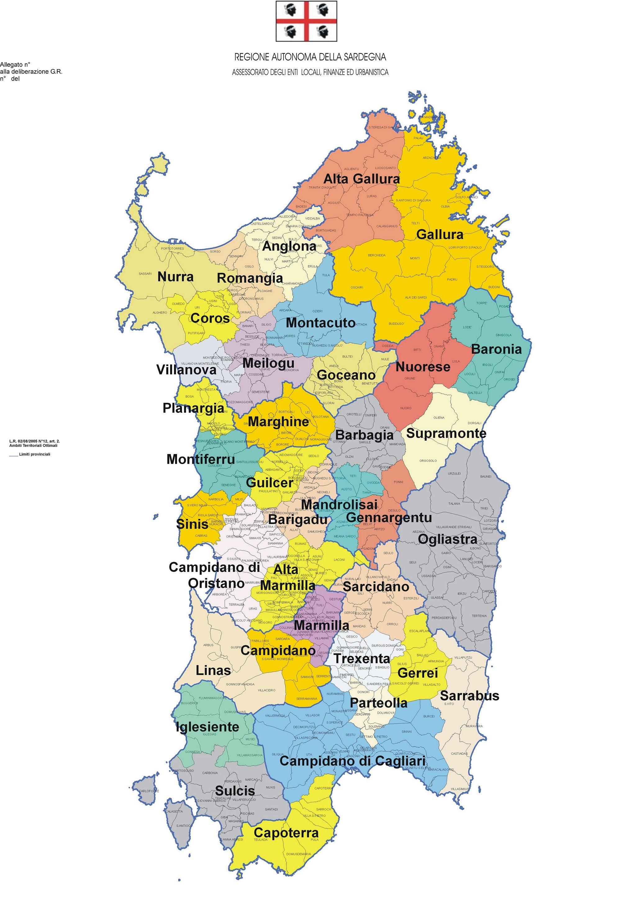 Sardegna Cartina Geografica.La Questione Delle Regioni Storiche Della Sardegna Nurnet